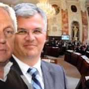 Fritz Dinkhauser und Bernhard Ernst von der Liste Fritz