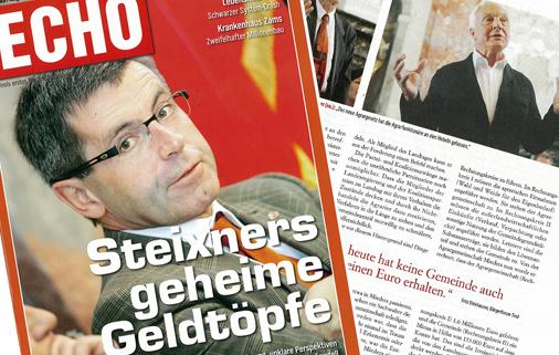 Echo Magazin Cover mit Steixner