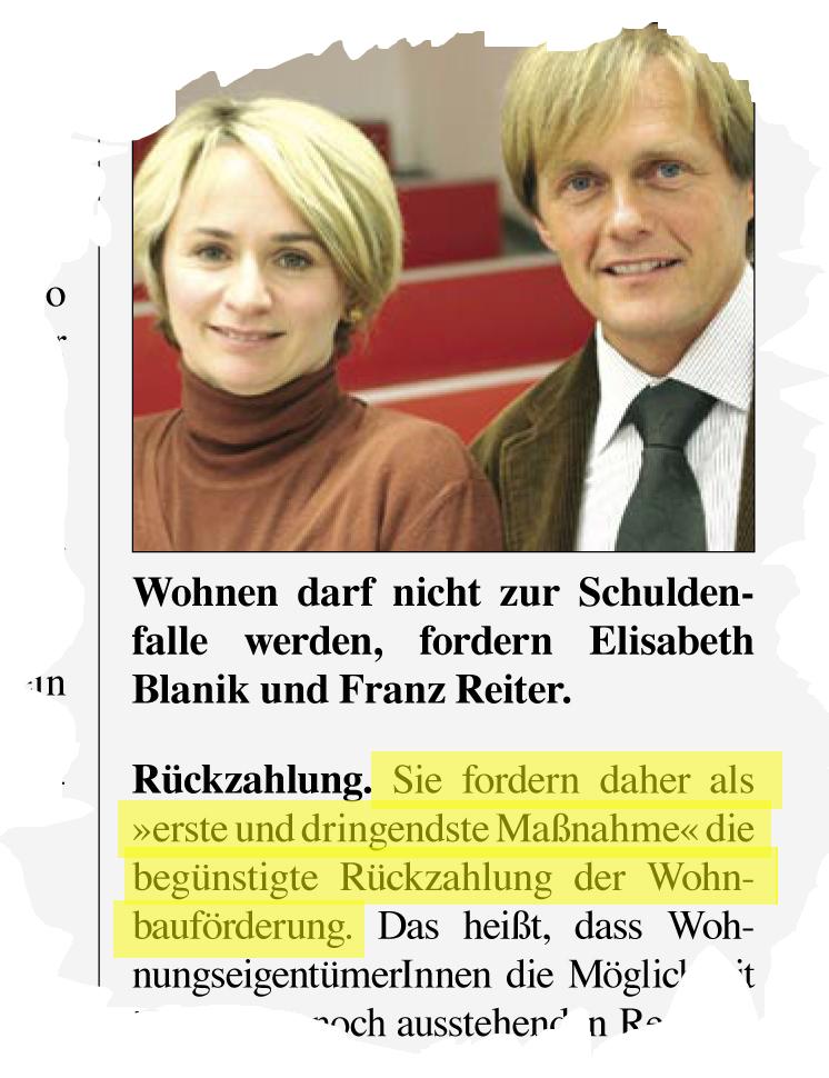 Ausschnitt SPÖ Parteizeitung