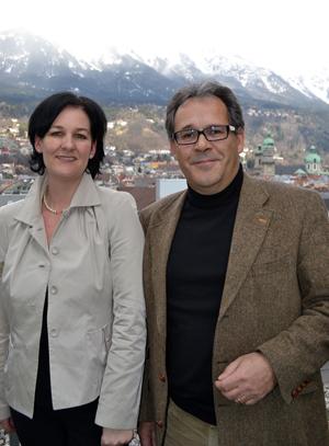 Andrea Haselwanter-Schneider und Martin Zanon von der Liste Fritz