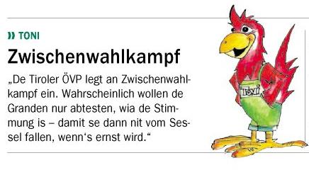 Toni über den Zwischenwahlkampf in Tirol