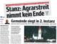 Bericht der Bezirksblätter zum Agrarstreit in Stanz