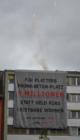 Aktion der Liste Fritz gegen den Beton-Platz Landhausplatz