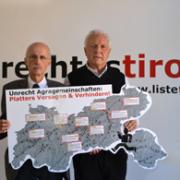 Andreas Brugger und Fritz Dinkhauser bei einer Pressekonferenz