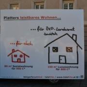 Aktion gegen teures Wohnen in Tirol