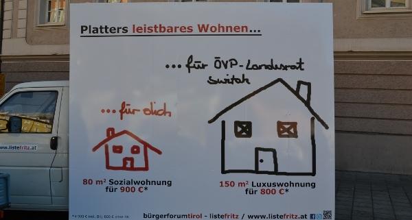 Platter und das leistbare Wohnen in Tirol