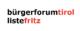 Logo Bürgerforum Tirol - Liste Fritz