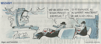 Karikatur der Salzburger Nachrichten zu Platters Jagd