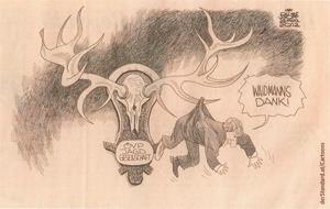 Karikatur des Standard zu Platters Jagd