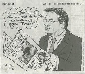 TT Karikatur zu Platters Jagdeinladungen