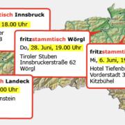 Termine für Fritz Stammtische in Tirol