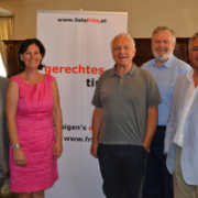 Das Team der Liste Fritz zu Besuch im Bezirk Innsbruck Land