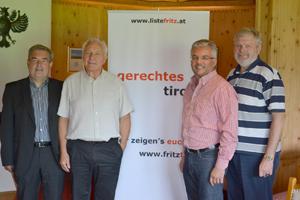 Das Team der Liste Fritz besucht Kitzbühel