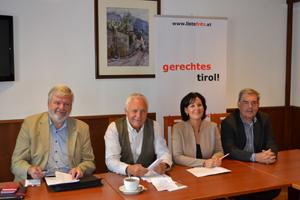 Pressekonferenz der Liste Fritz zur Tour im Bezirk Imst