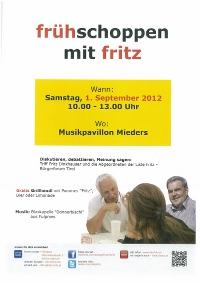 Einladung zum Frühschoppen mit Fritz Dinkhauser