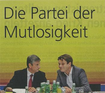 ÖVP Partei der Mutlosigkeit