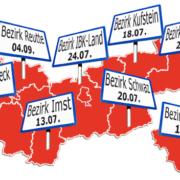 Termine zur Tour der Liste Fritz durch die Bezirke Tirols