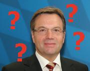 Landeshauptmann Platter und vier Fragezeichen