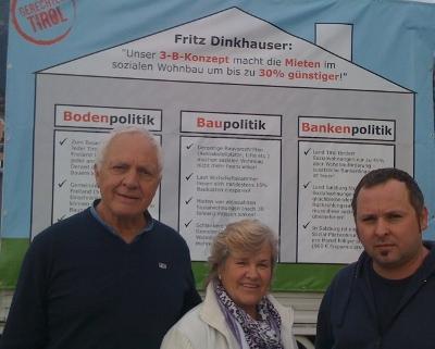 Fritz Dinkhauser kämpft gegen teures Wohnen