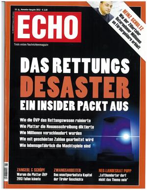 Echo Bericht zum Rettungsdesaster