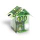 Ein Haus aus Geldscheinen