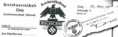 Agrardokument aus der NS-Zeit
