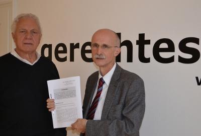 Fritz Dinkhauser und Andreas Brugger von der Liste Fritz