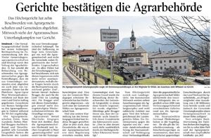 Bericht der Tiroler Tageszeitung zu Agrargemeinschaften Langkampfen