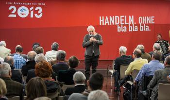 Fritz Dinkhauser auf dem Bürgertag der Liste Fritz