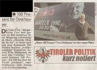 Bericht der Kronen Zeitung zum Bürgertag der Liste Fritz 2012