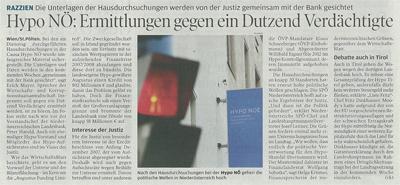 Bericht im Wirtschaftsblatt über die Hypo Tirol Bank