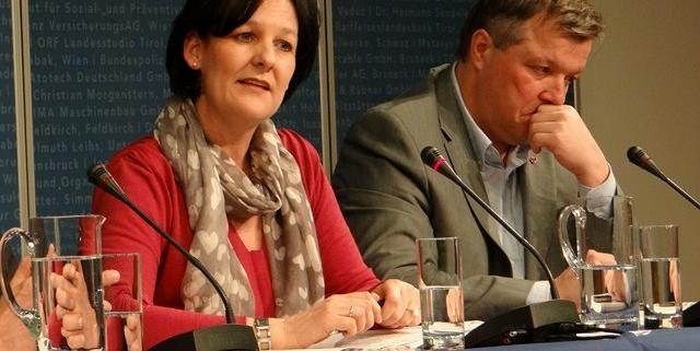 Andrea Haselwanter-Schneider bei einer Pflegedebatte