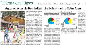 Bericht der Tiroler Tageszeitung zu den Agrargemeinschaften