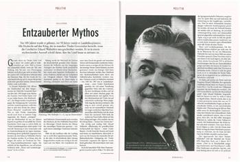 Echo-Artikel über ÖVP-Landeshauptmann Eduard Wallnöfer
