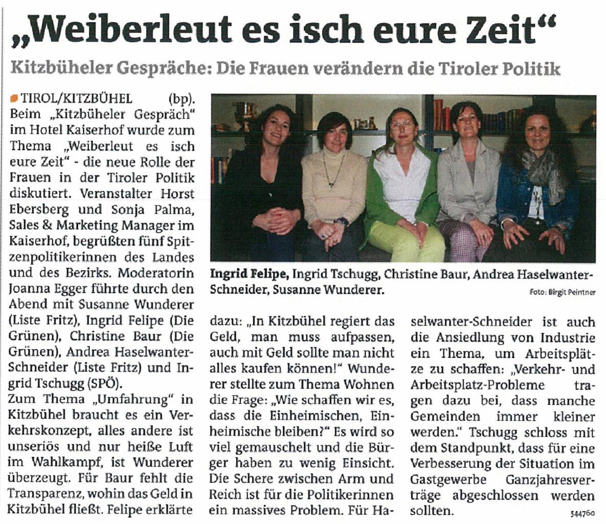 Bericht der Bezirksblätter zur Landtagswahl in Tirol 2013