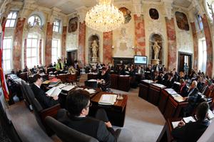 Der Plenarsaal des Tiroler Landtags