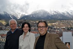 Fritz Dinkhauser, Andrea Haselwanter-Schneider und Martin Zanon von der Liste Fritz