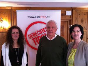 Susanne Wunderer, Fritz Dinkhauser und Andrea Haselwanter-Schneider