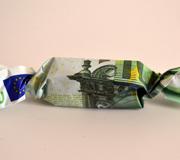 Ein Geldschein als Zuckerl