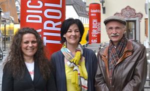 Susanne Wunderer, Andrea Haselwanter-Schneider und Andreas Brugger