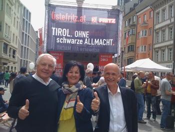 Fritz Dinkhauser, Andrea Haselwanter-Schneider und Andreas Brugger