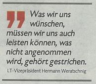 Statement von Landtagsvizepräsident Weratschnig zum Thema Öffi-Verkehr