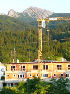Eine Baustelle in Götzens 2011