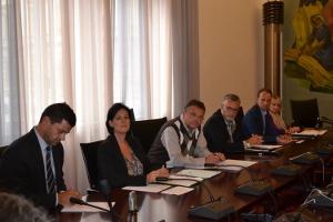 Vertreter der Tiroler und Südtiroler Parteien bei einer Pressekonferenz