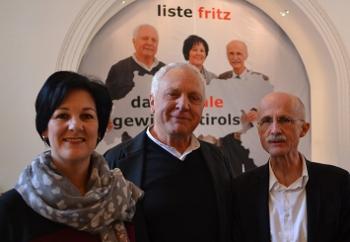 Andrea Haselwanter-Schneider, Fritz Dinkhauser und Andreas Brugger
