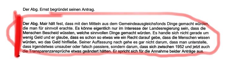 Ein Statement von Gebi Mair aus dem Jahr 2010 zu den Bedarfszuweisungen