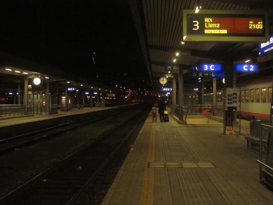 Am Bahnhof Innsbruck