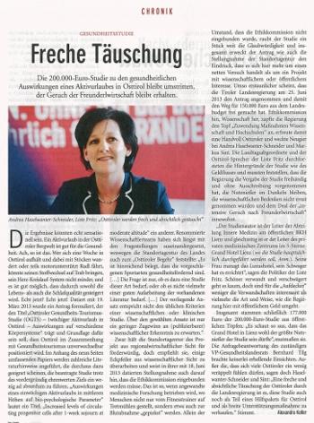 Echo Beitrag zur Osttiroler Gesundheitsstudie