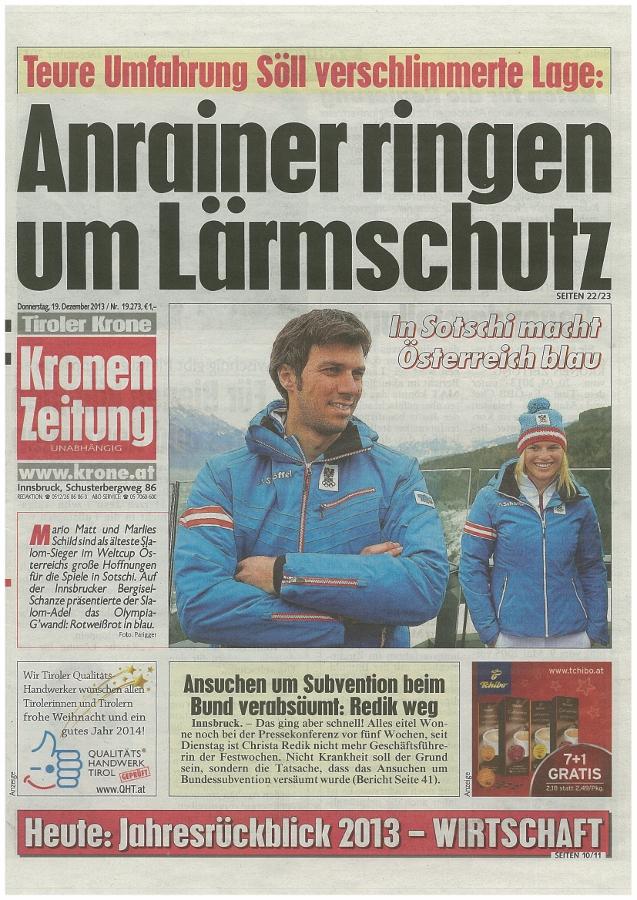 Bericht der Kronen Zeitung zur Lage in Söll