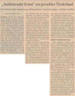 Bericht des Standard zum Agrarunrecht in Tirol